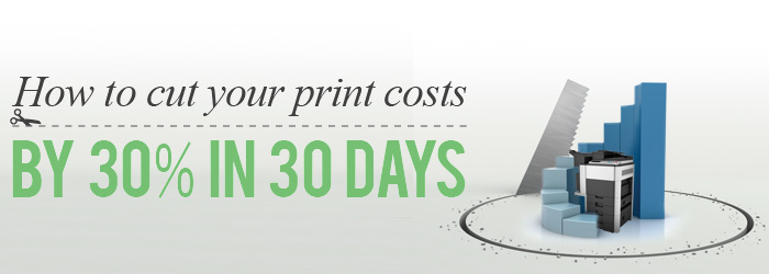Save 30% in 30 days on your print costs